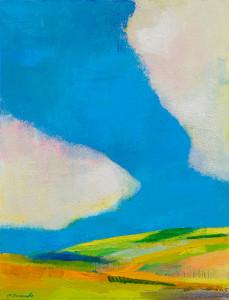 <雲、悠々と>     P15 油彩   2015年