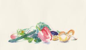 野菜 4号大  水彩  2014