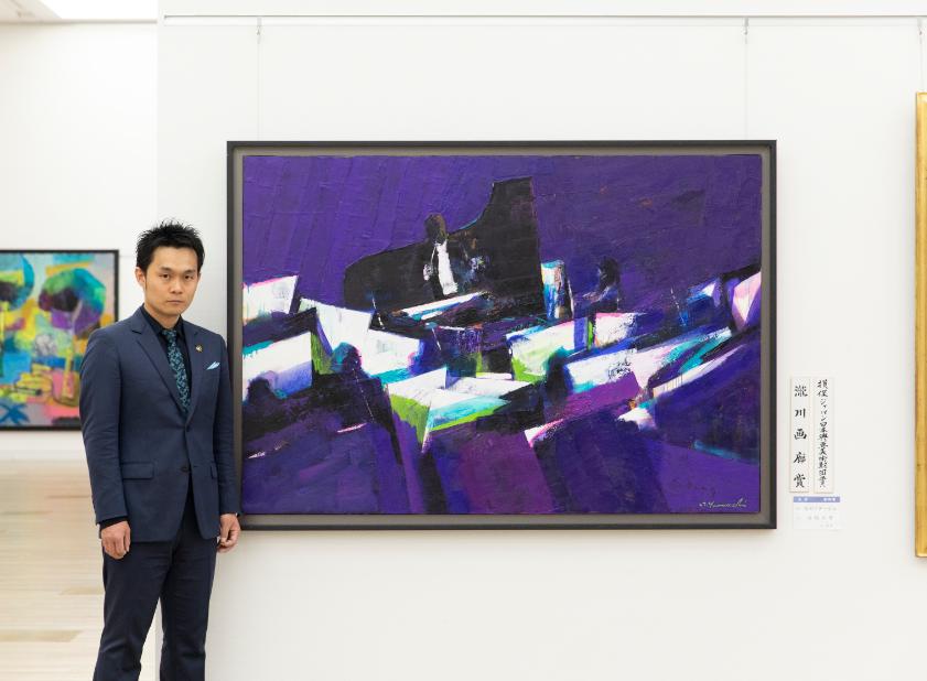 出品受賞作「星のアダージョ」 国立新美術館にて3月。      撮影:安達康介