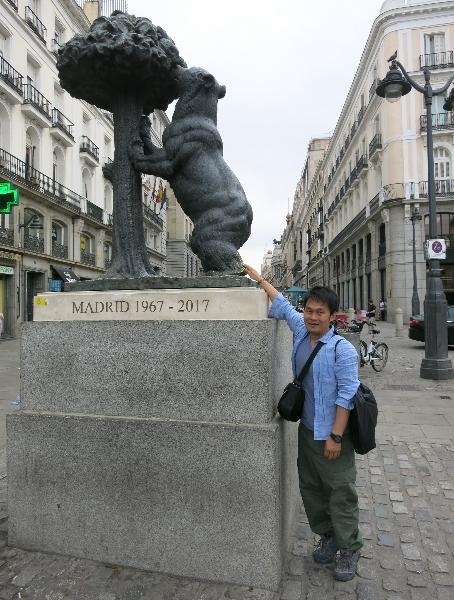 Madridにて。