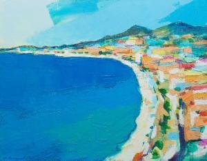 地中海のビーチ  P10号  油彩  2019年