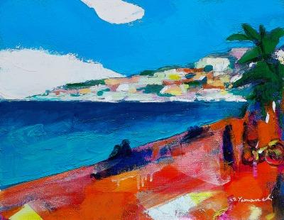 「プロムナードに吹く風」 6号 油彩